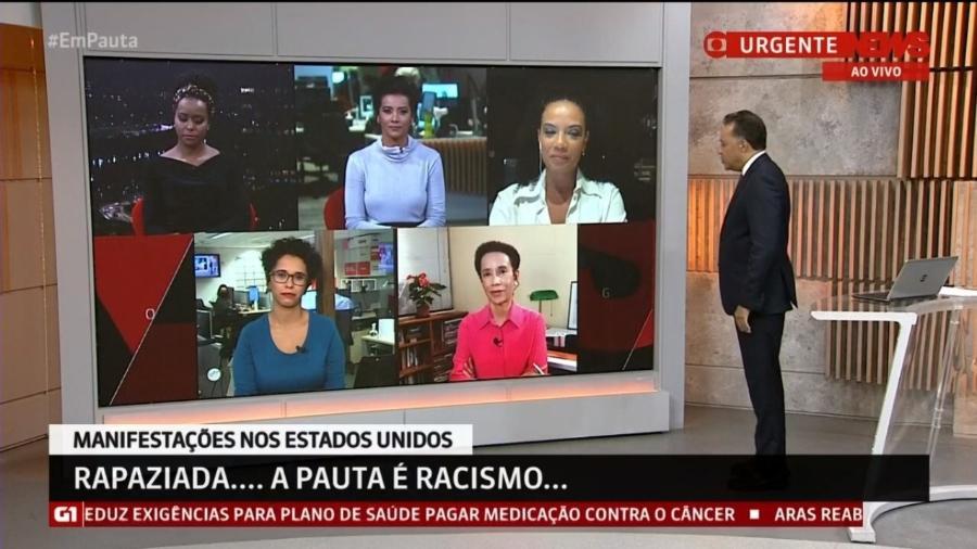 """GloboNews escala jornalistas negros para falar sobre racismo no """"Em Pauta"""""""" - Reprodução/GloboNews"""