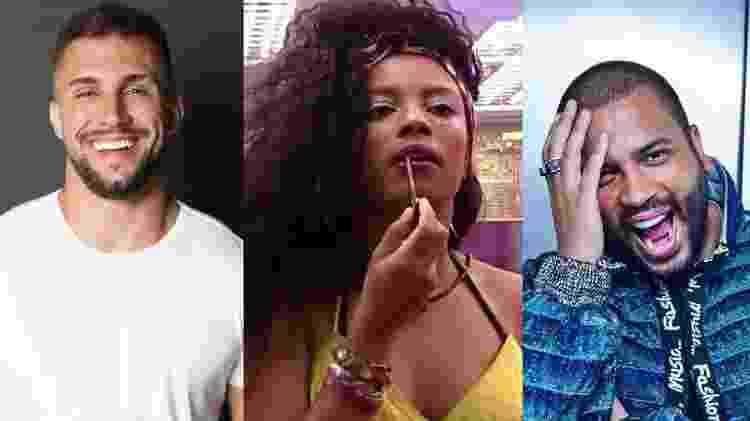 BBB 21: Arthur, Lumena e Projota estão no quinto paredão  - Reprodução/Instagram - Reprodução/Instagram