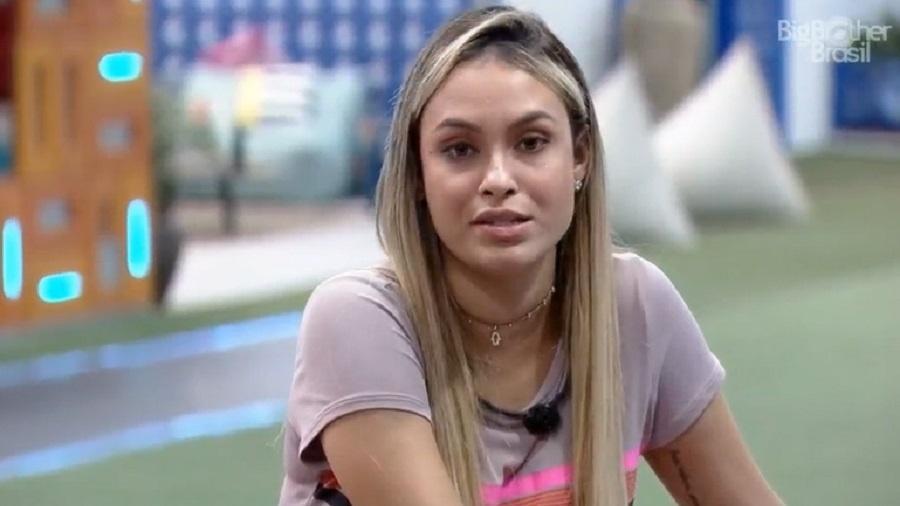 BBB 21: Uma das favoritas do programa, Sarah decepcionou parte do público ao dizer que gosta do presidente Bolsonaro - Reprodução/Globplay