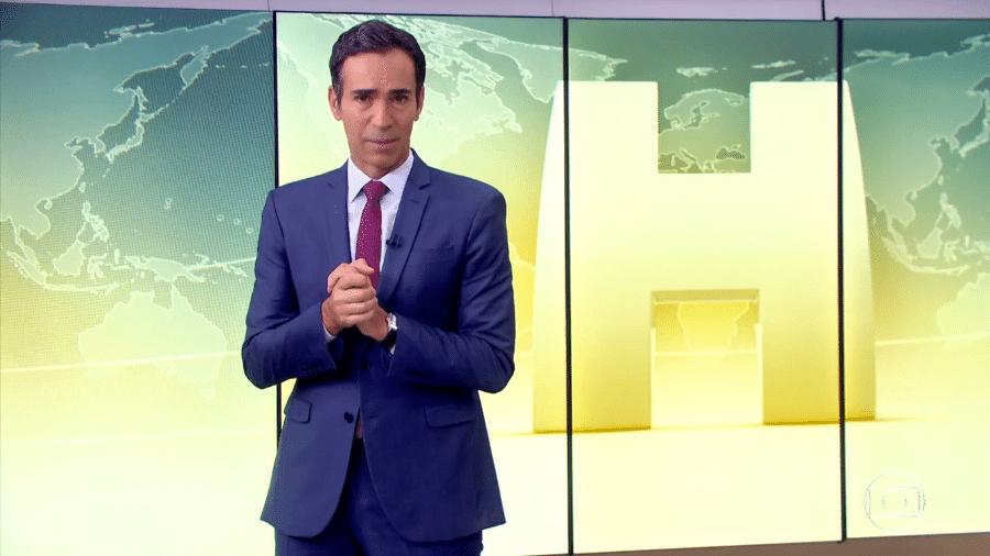 """Cesar Tralli no """"Jornal Hoje"""" - Reprodução/TV Globo"""