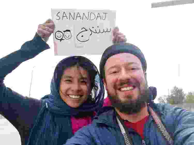 Guilherme e a amiga de Hong Kong que queria viajar de carona no Irã: às vezes, eles tinham que dizer que eram um casal - Arquivo pessoal - Arquivo pessoal