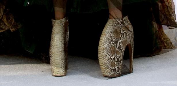 Os Armadillos, sapatos eternizados nos pés de Lady Gaga, foram lançados na coleção Verão 2010 - Getty Images
