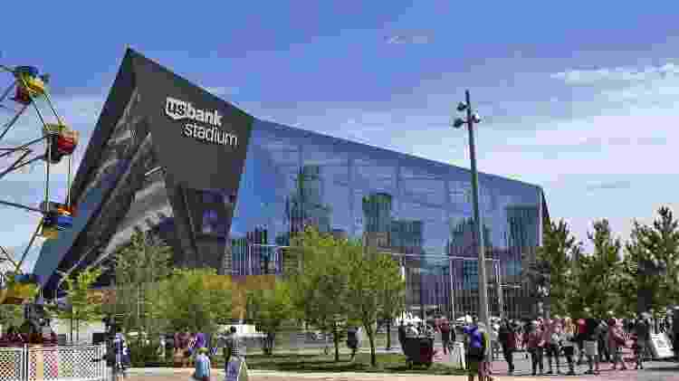 O U.S. Bank Stadium foi construído para servir como a nova casa do Minnesota Vikings - Reprodução/usbank.com - Reprodução/usbank.com