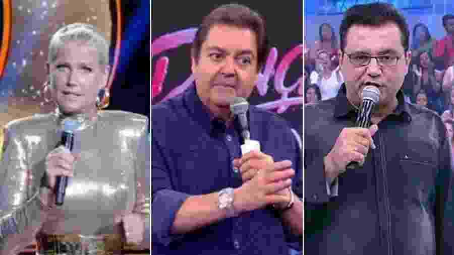 Xuxa, Faustão e Geraldo Luís já se estressaram ao vivo com suas produções - Reprodução
