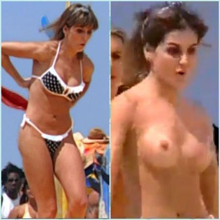 """Globo censura nudes de Darlene em """"Celebridade"""" - Reprodução/TV Globo Montagem/UOL"""