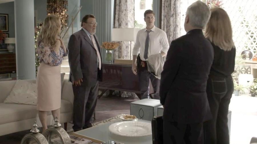 Sophia vai até a casa de Bruno cobrar explicações sobre a prisão de Gael - Reprodução/Gshow
