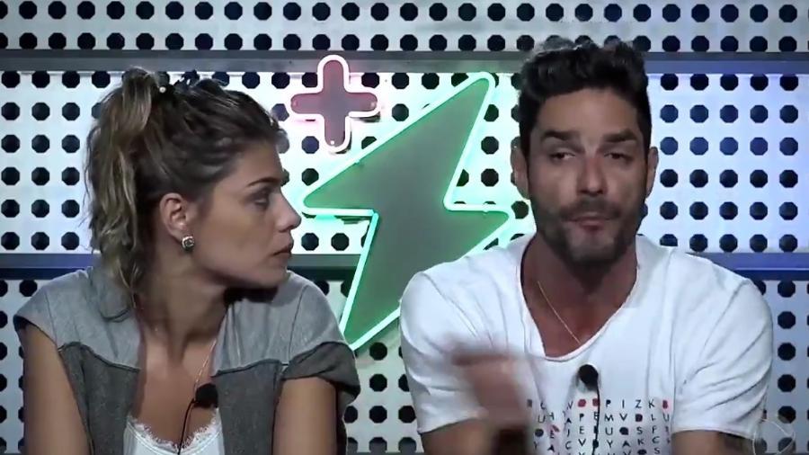 """Diego e Franciele Grossi no """"Power Couple Brasil"""" - Reprodução/Record"""