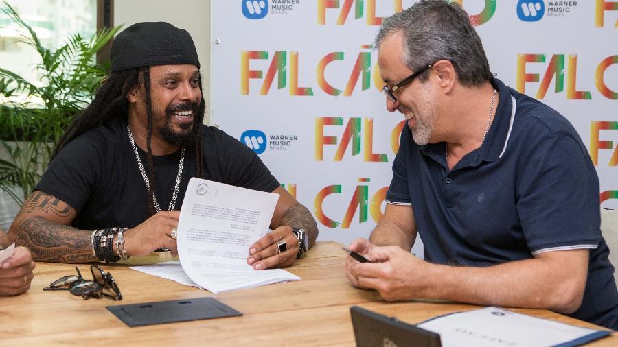 Após deixar O Rappa, Falcão assina contrato com a Warner para seguir em carreira solo - Divulgação