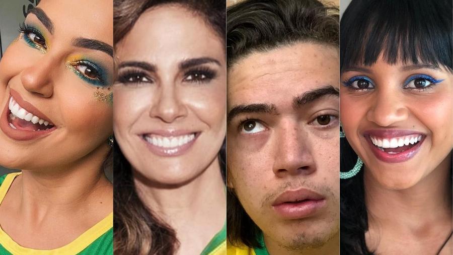 Famosos torcem para seleção brasileira sem deixar de comentar o jogo no Twitter - Montagem/Instagram