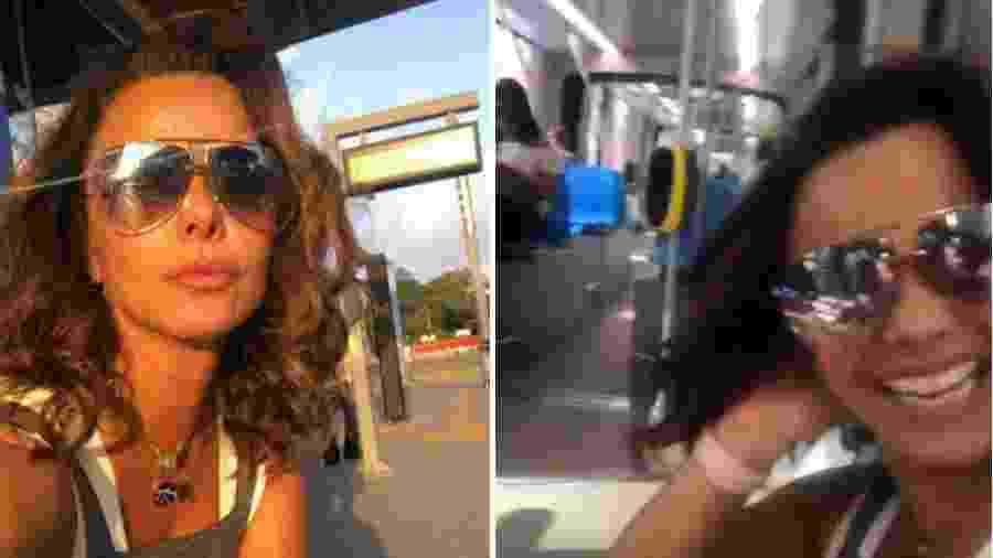 Viviane Araújo anda de transporte público - Reprodução/Instagram