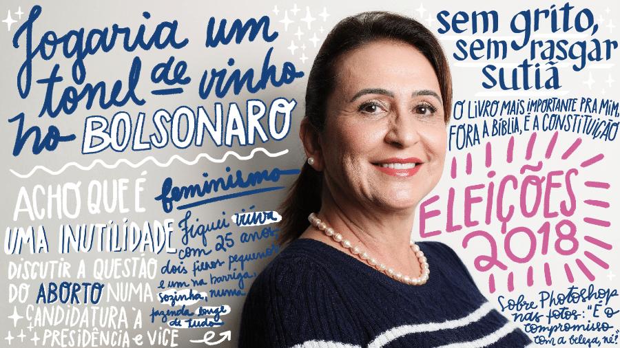 Kátia Abreu é candidata a vice-presidente na chapa com Ciro Gomes (PDT) - Lucas Lima/Arte UOL