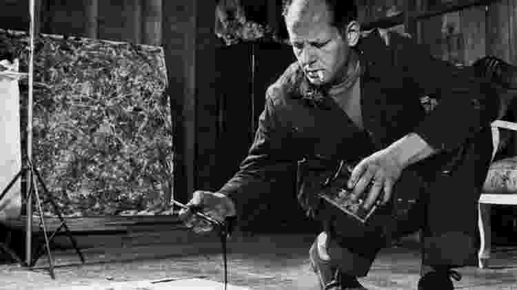 O pintor norte-americano Jackson Pollock - Reprodução - Reprodução
