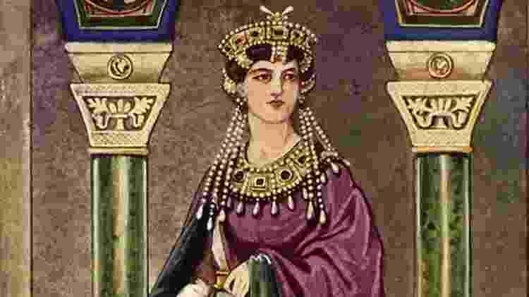 Teodora passou grande parte da infância e juventude no hipódromo - centro esportivo, social e cultural de Constantinopla - Getty Images