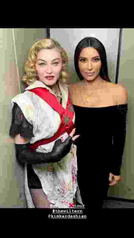 Madonna e Kim Kardashian   - Reprodução/Instagram