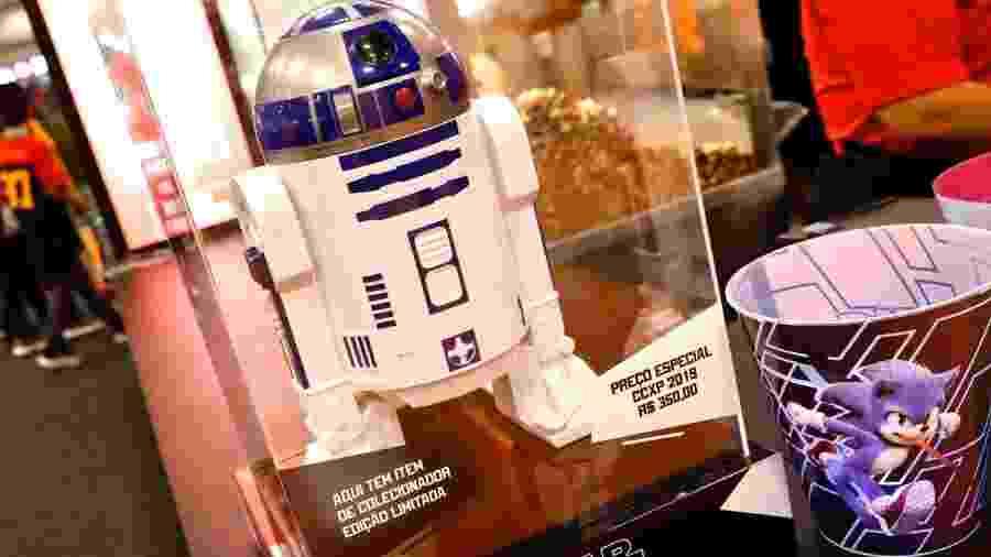 Balde de pipoca do robô R2D2 para colecionadores é vendido a R$ 350 na CCXP - Mariana Pekin/UOL