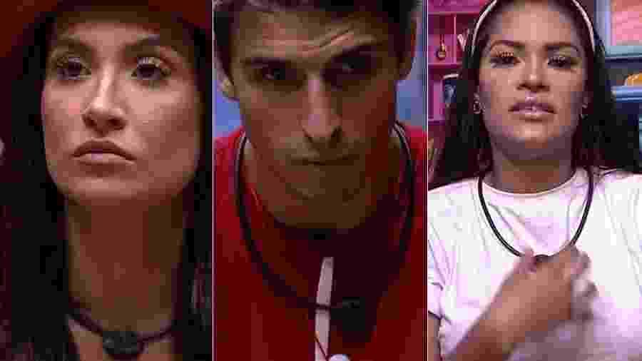 Bianca, Prior e Flayslane estão no quinto paredão do BBB 20 - Reprodução/TV Globo