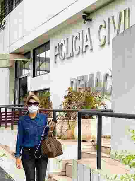 Antonia Fontenelle, na Polícia Judiciária da Macro São Paulo (DEMACRO) - Reprodução/Instagram