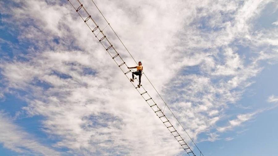 Percurso de 60 metros com 120 degraus - Reprodução/Instagram