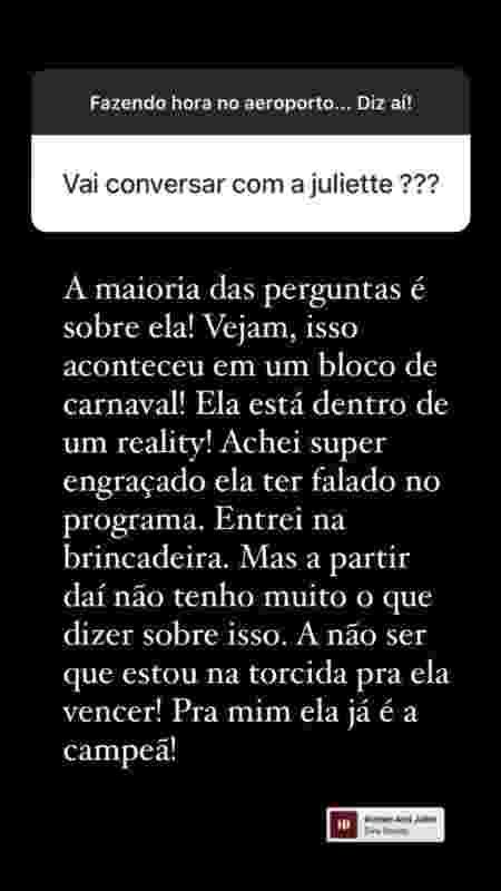 BBB 21: Thiago Rodrigues comenta affair com Juliette - Reprodução/Instagram - Reprodução/Instagram