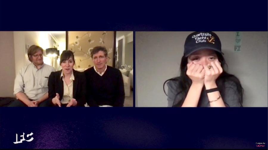 """Chloé Zhao e o trio de produtores de """"Nomadland"""" (Dan Janvey, Mollye Asher, Peter Spears) vencem melhor filme no Independent Spirit Awards 2021 - Getty Images for Film Independent"""