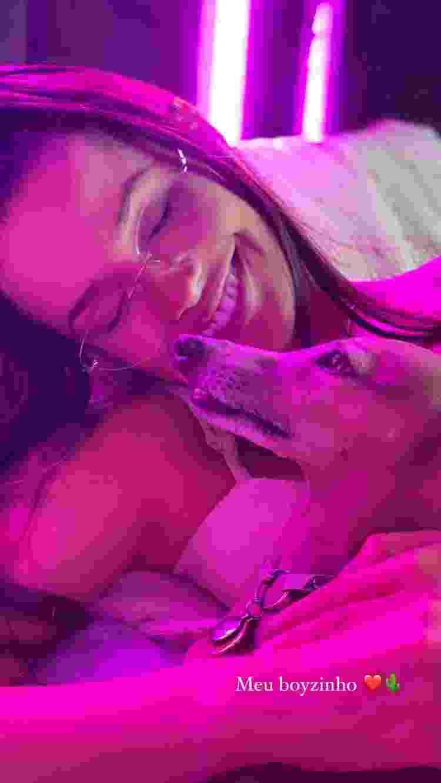 Juliette, campeã do 'BBB 21', e Plínio, cachorro de Anitta - Instagram/@juliette - Instagram/@juliette