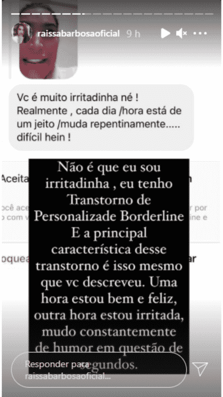 Story de Raíssa Barbosa - Reprodução/Instagram - Reprodução/Instagram