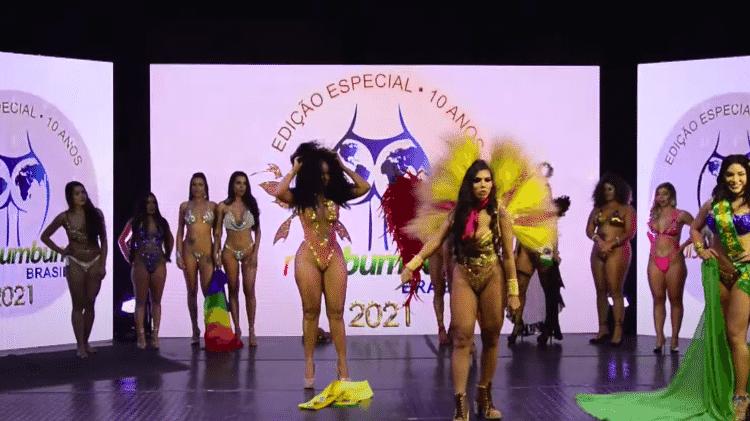 Final do Miss Bumbum teve confusão entre candidatas - Reprodução / YouTube - Reprodução / YouTube