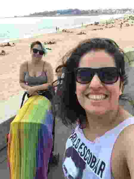 Talita e Lívia perceberam a homofobia durante uma viagem a Portugal, com o afilhado - Arquivo pessoal - Arquivo pessoal