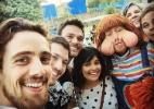 """Elenco de """"Além do Tempo"""" tieta Fofão na Globo - Reprodução/Instagram/emiliodantas"""