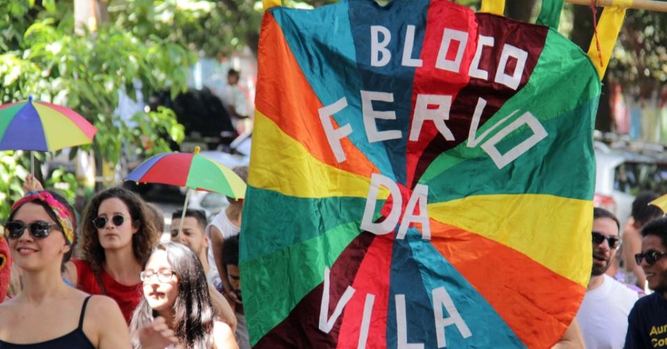 31.jan.2015 - Bloco Fervo da Vila, que trouxe os acordes pernambucanos do frevo para a Vila Madalena, zona oeste de São Paulo
