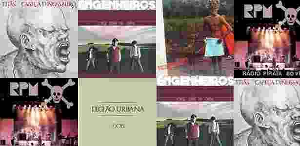 Capa dos discos do rock nacional lançados em 1986 que permanecem atuais - Reprodução UOL