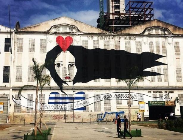 Mural da artista Rita Wainer no Boulevard Olímpico, na Orla Luis Paulo Conde, no Rio - Reprodução/Instagram/@hytawayner