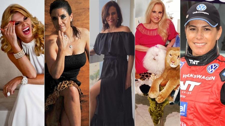 """A socialistes da primeira temporada de """"Mulheres Ricas"""": Val Marchiori. Lydia Sayeg, Narcisa Tamborindeguy, Brunete Fraccioli e Debora Rodrigues - AgNews/Reprodução/Divulgação"""