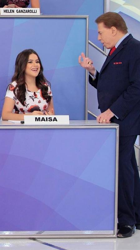 Silvio Santos conversa com Maisa em programa que irá ao ar neste domingo (4), no SBT - Lourival Ribeiro/SBT