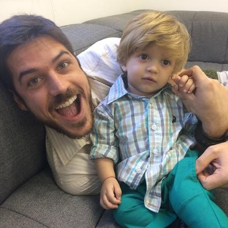 Marco Pigossi e o pequeno Lorenzo Souza - Reprodução/Instagram