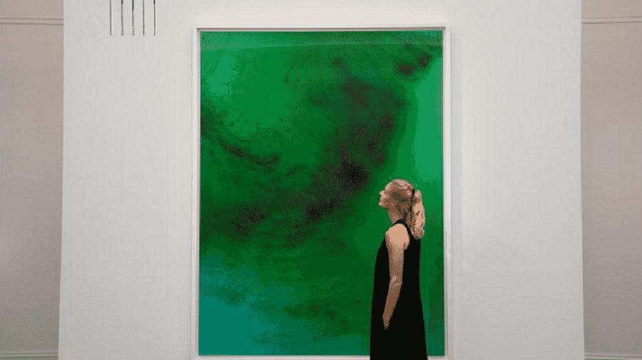 "Quadro ""rieschwimmer 193"", do artista Wolfgang Tillmans, que fez parte do leilão - Toby Melville/Reuters"