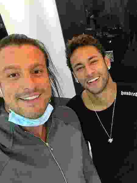 Neymar e o responsável pelo seu sorriso dentista Rafael Puglisi - Reprodução/Instagram - Reprodução/Instagram