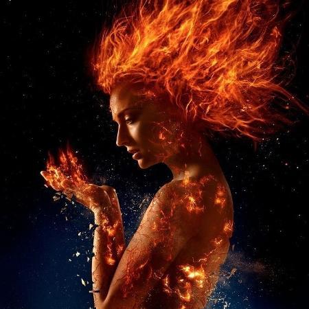 Sophie Turner como a Fênix Negra - Divulgação