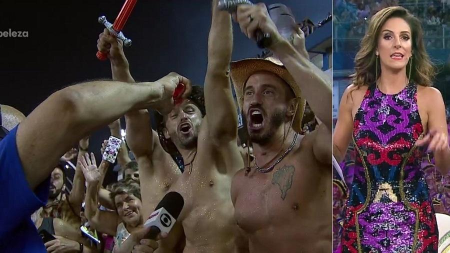 Monalisa Perrone elogia mosqueteiros fortões durante transmissão da Globo - Montagem/Reprodução/TV Globo