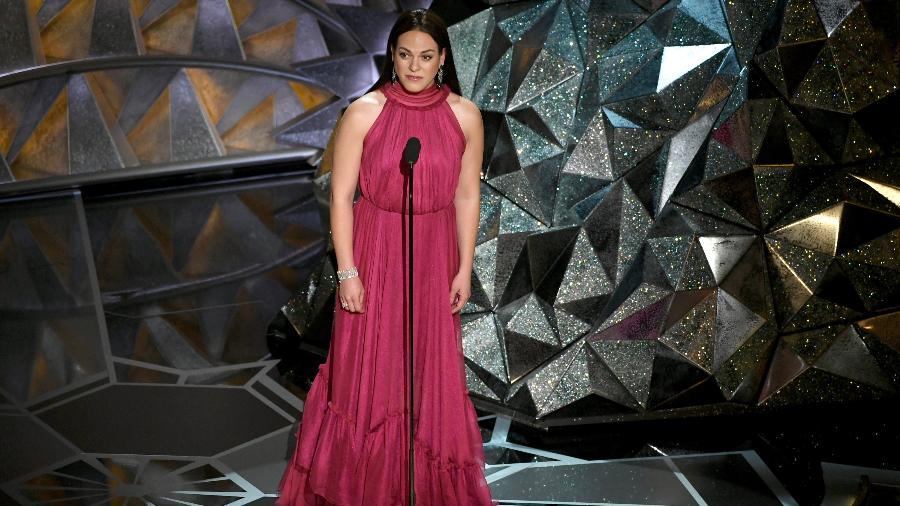A atriz trans chilena Daniela Vega introduziu uma apresentação musical na cerimônia do Oscar - Kevin Winter/Getty Images