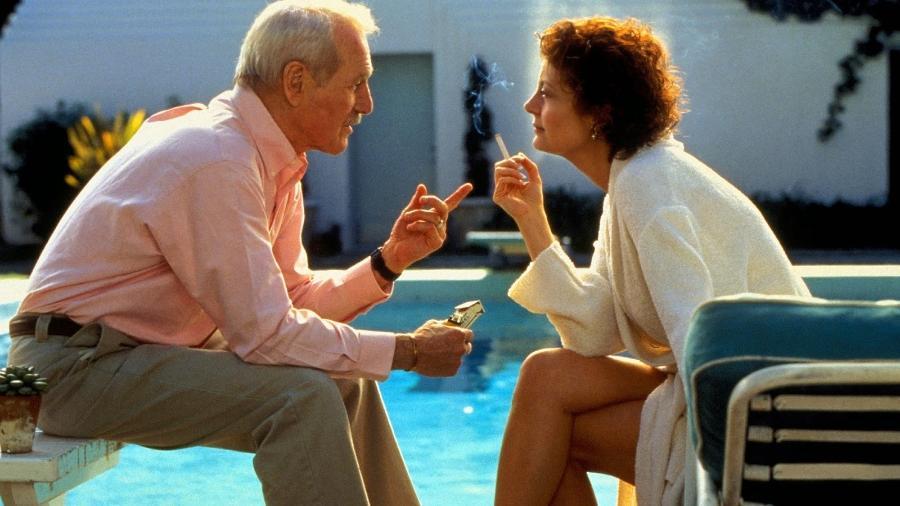 """Paul Newman e Susan Sarandon em cena do filme """"Fugindo do Passado"""" - Reprodução"""