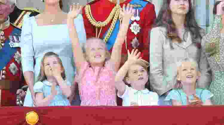 Charlotte, Savannah, George e Isla no Trooping The Colour - Getty Images - Getty Images