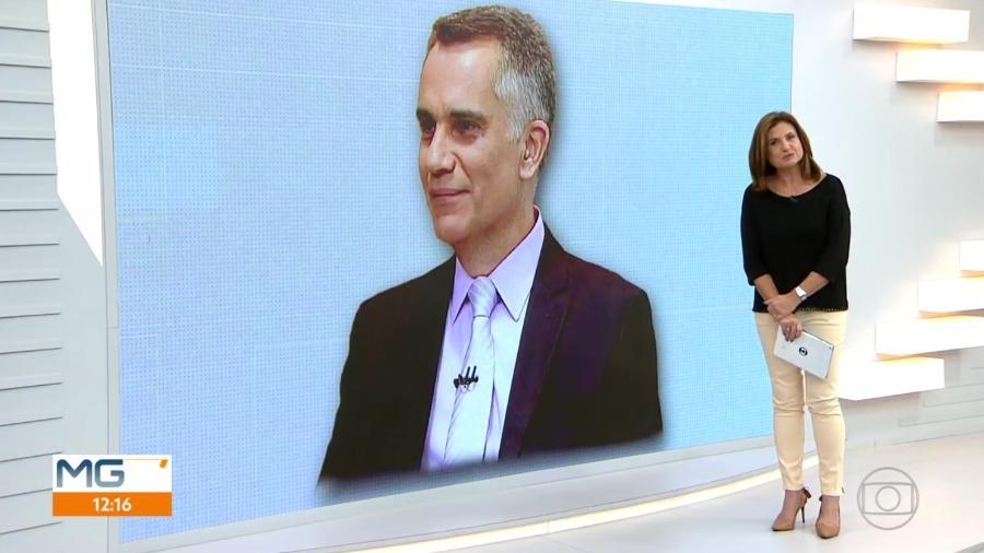"""Isabela Scalabrini, apresentadora do """"MG1"""", telejornal local da Globo, se emociona ao lembrar um ano da morte de Artur Almeida - Reprodução/TV Globo"""