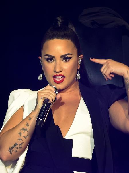 A cantora Demi Lovato - Miguel Riopa/AFP