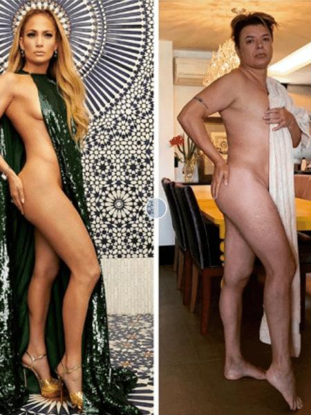 David Brazil faz versão caseira de look ousado de Jennifer Lopez - Reprodução/Instagram