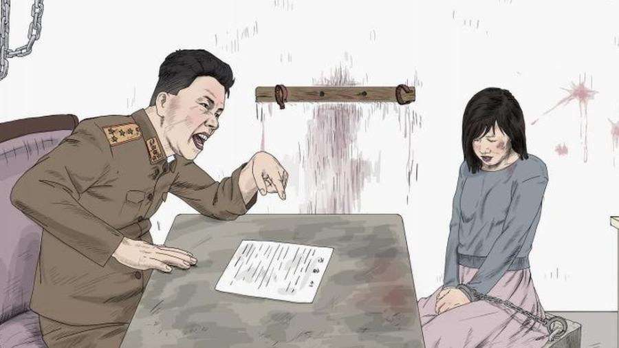 A Human Rights Watch divulgou ilustrações que denunciam o abuso junto ao relatório - HRW