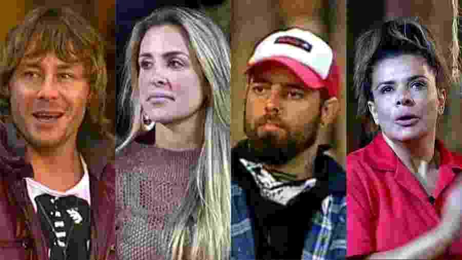 Theo Becker, Joana Machado, Tico Santa Cruz e Mara Maravilha - Reprodução/Record