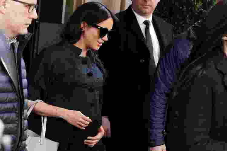 Meghan deixa o hotal onde aconteceu seu chá de bebê secreto, em Nova York; não há fotos do evento - Reuters - Reuters
