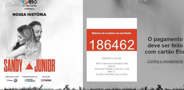 Saga por ingressos | Fila online para show de Sandy e Jr. passa de 180 mil pessoas