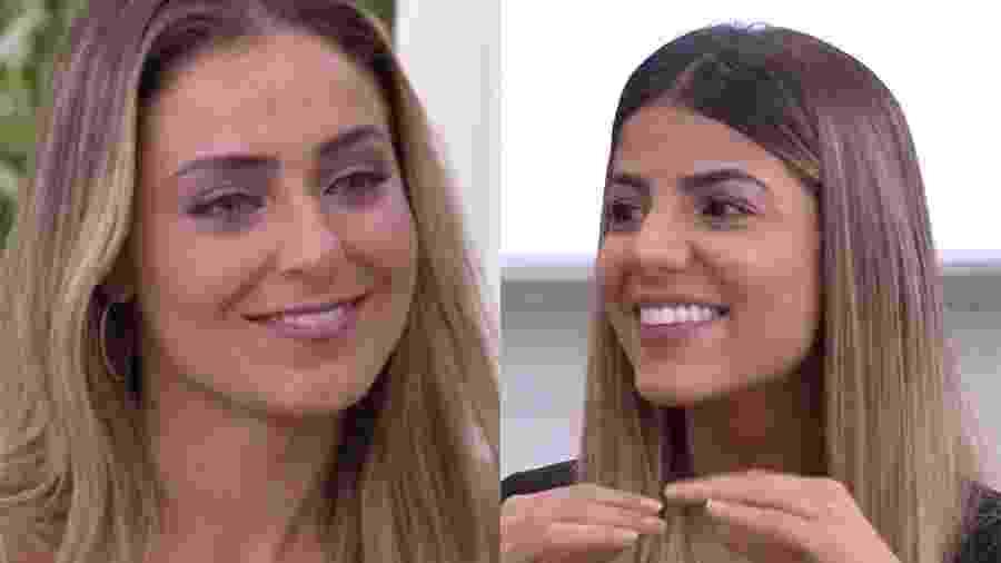 """Paula se emociona ao falar sobre amizade com Hariany no """"Mais Você"""" - Reprodução/Globo"""